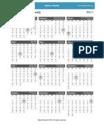 Monthly Islamic Calendar