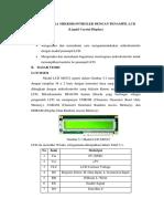 Laporan Praktikum Mikro LCD