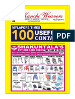 Mylapore Times 100 Useful Contacts