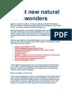 Eight New Natural Wonders
