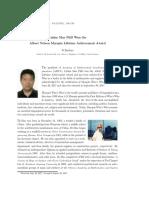 Linfan Mao PhD Won the Albert Nelson Marquis Lifetime Achievement Award