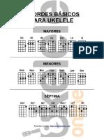 Acordes Basicos para el Ukelele
