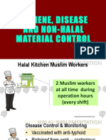 Hygiene, Disease and Non-halal Material Control