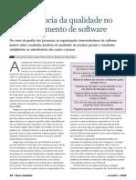 Artigo Qualidade de Software