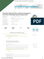 Pelatihan Big Data Dan Artificial Intelligence Di Institut Teknologi Sepuluh Nopember - Digital Talent Scholarship