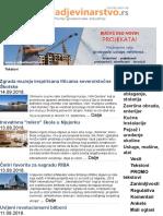 Newsletter 405 - Vesti, Tekstovi, Preduzeca i Informacije Iz Oblasti Gradjevinarstva i Arhitekture