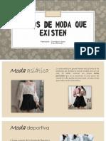 Tipos de MODA