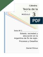 Filmus - Estado Sociedad y Educacion en La Argentina (3)