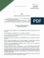 Structura an Scolar 2018 2019