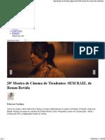 Crítica do filme Sem Raiz, de Renan Rovida