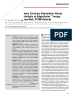 (7) Primary Percutaneous Coronary Intervention VersusIn-hospital Thrombolysis as Reperfusion Therapyin Early-Arriving Low-risk STEMI Patients