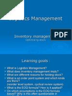BLY3Q3 Logistics Management LM1-IM1