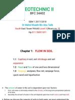 Chapter 1.1- Flow in Soil