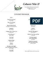 2013 Cabaret Program