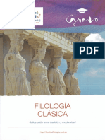 Folleto Grado Filología Clásica Salamanca