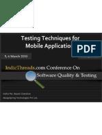 Mobile Testing Techniques
