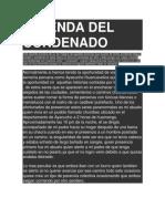 Leyenda Del Condenado