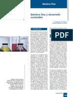 Quimica Fina y Desarrollo Sostenible