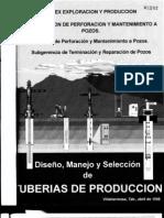 DISEÑO, MANEJO Y SELECCION DE TUBERIA DE PRODUCCION