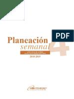 Planeacion Semanal 4 2018 Editable