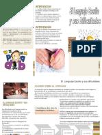 Brochure Lenguaje Escsrito y Sus Dificultades