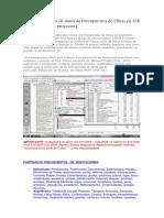 Backups de Bases de Datos de Presupuestos de Obras en S10 – 2005 [Diversos Proyectos]