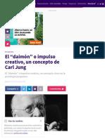 """El """"daimón"""" o impulso creativo, un concepto de Carl Jung"""