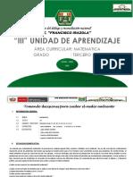 III Unidad Didáctica Matematica 3º Gr2018