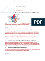 body system checklist