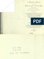 A Masonic Manual - J Wright Anderson