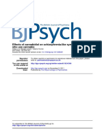 Morgan & Curran- Effects of Cannabidiol on Schizophrenia-like Symptoms in People Who Use Cannabis (2008)