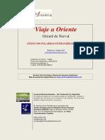 El Viaje a Oriente Glosario - Gérard de Nerval