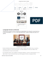 Lenguaje Formal e Informal – Venelogía