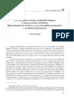 La Vecindad Entre Condición Formal y Negociación Continua. Reflexiones en Torno de Las Categorías Sociales y Las Redes Personales