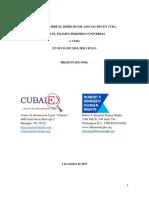 Informe Conjunto Cubalex-Centro Kenndy DDHH Para EPU