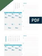 Planilla de Excel Para Calendario MODIFICAR
