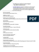 Historical Measures List