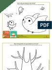 Balance the Birds Coloring Sheets
