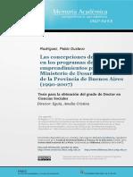 Concepciones Del Desarrollo en Programas Promoción - Rodríguez