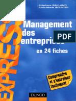 Dunod - Management Des Entreprises en 24 Fiches