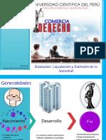 DISOLUCIÓN, EXTINCIÓN Y LIQUIDACION DE LA PERSONA JURIDICA.pptx