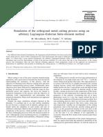 Simulation of the Orthogonal Metal Cutting Process Using an Arbitrary Lagrangian–Eulerian Finite-element Method
