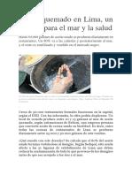 Aceite Quemado en Lima