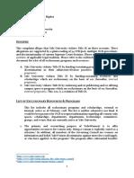 Title IX Complaint [Yale]