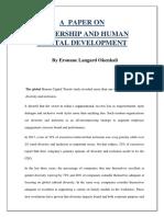 Leadership and Human Capital Development-converted