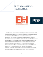 Paper on  Managerial Economics