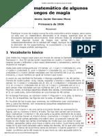 Análisis Matemático de Algunos Juegos de Magia