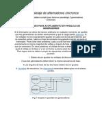 3.5 Paralelaje de Alternadores Sincronos (Condiciones)SOTO