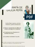 Biografía de Ercilia Pepín