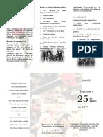 Panfleto - 25 de Abril